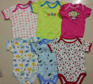 China kids mixed in stock assorted short sleeve baby boxer boy girl cotton summer onesie Singapore cheap rompers on sale
