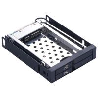 Unestech 2*2.5in Aluminum casing dual bay caddy tray hot swap 2.5 SATA HDD/SSD LED indicator HDD case
