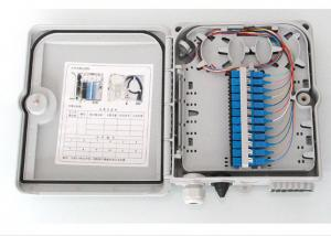 China Wall Mounted Fiber Optic Termination Box , ABS Housing Fiber Optic Junction Box With Extend Capacity on sale