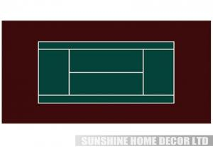 China Red Recycled Anti Slip Outdoor Tennis Court Flooring For Playground or Backyard court on sale