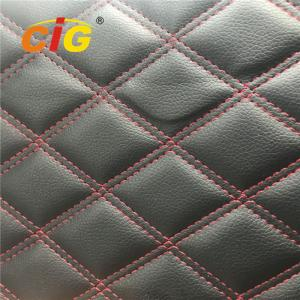 China Artificial Embroidery PU PVC Artificial Leather With Foam Bonded for Sofa for Car on sale