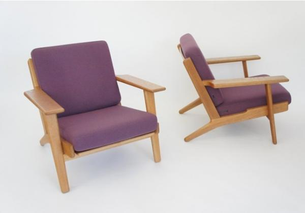 ge 290 easy chair replica hans wegner plank chair product photos ge