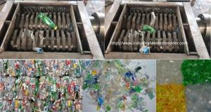 China Bottles Bale Plastic Waste Shredding Machine Dual Shaft Automatic Overload Protection on sale