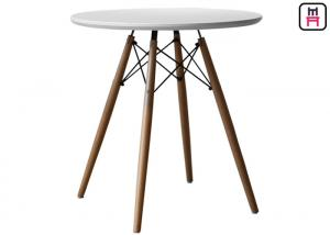 China Round Eames Molded Plywood Coffee Table , MDF Dining Table Top Beech Wood on sale