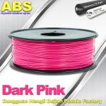 Colored ABS 3d Printer Filament 1.75mm /  3.0mm , Dark Pink  ABS Filament