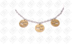 China 316L Stainless Steel Necklace Chain , Gold Butterfly Necklace Silver on sale