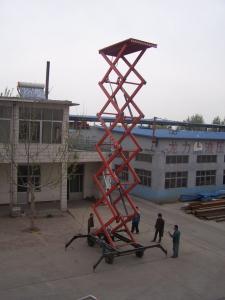 China 0.5 - 30T Loading Capacity small hydraulic scissor lift platform 220v 3KW 5kw on sale