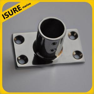China Boat Hand Rail Fitting-90 Degree Rectangular Base-Marine Stainless Steel on sale