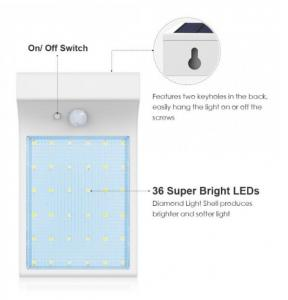 China 36 LED outdoor solar light motion sensor solar garden wall mounted outdoor security light Waterproof Security Pati Light on sale
