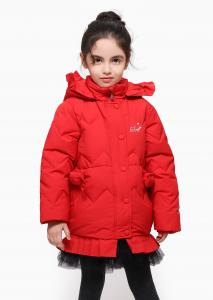 China Down Jacket Manufacturer Child Wear Zipper Super Warm High Quality Coat Winter Jacket Girls Parka on sale