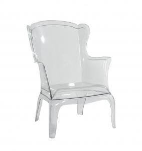 China Clear Modern Plastic Outdoor Chairs / Solid , French Style Chair on sale