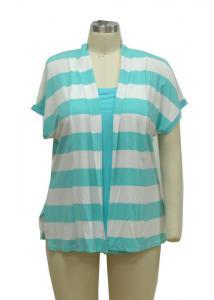 China Women'S Lightweight Summer Cardigan , Short Sleeve Open Front Cardigan Branded on sale
