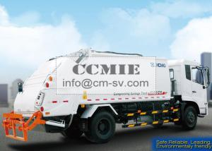 China PLC Rear Loader Automated Garbage Trucks , Self Compress Waste Disposal Trucks on sale