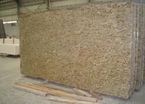 China Household Ornamental Gold Granite Stone Slabs Natural Granite Tiles Flooring on sale