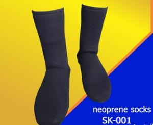 China Black Waterproof Neoprene Boot Socks / Neoprene Toe Socks For Diving on sale