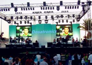China P7.2 Outdoor LED Stage Backdrop Screen , Large LED Screens For Concerts 140° View Angle on sale