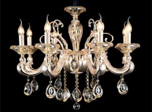 China Eight Heads Candleholder Crystal Chandelier Lamp Led Crystal Ceiling Lights on sale