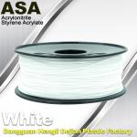 ASA 3D Printer Filament Ultraviolet Resist 1.75 / 3.0mm Black White Colors