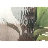 China Grey Flat Colored Glass Panels , Custom Size Patterned Figured Glass on sale