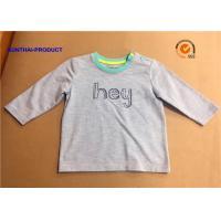 China Fashion Custom Toddler T Shirts , Hey Graphic Print Baby Boy Long Sleeve Tops on sale