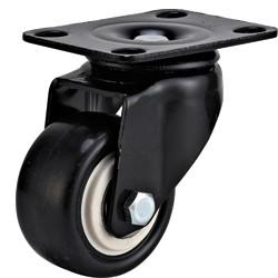 China light duty 2 swivel black PU caster , 2.5 inch, 3 inch PU castor, small caster, lacque caster on sale