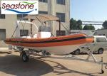 115hp Single Engine Inflatable Fishing Boat/ Foldable Canopy Inflatable Rescue Boat