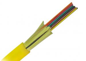 China yellow jacket 12core Indoor Distribution fiber optical cable with 0.9mm Cable on sale