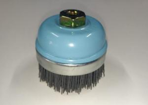 China Nice Surface Nylon Filament Cup Brush / Abrasive Nylon Brush With M10*1.25 Nut on sale