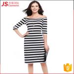JS 20 Top Quality Korean Stripe Bodycon Woman Dress One-Piece For Sale 731
