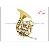 Bb Tone Mini French Horn Brass Musical Instruments for Students / Beginners