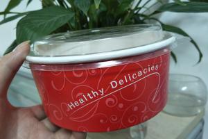 China Food grade Virgin enamel Paper Salad Bowls , paper serving bowls on sale