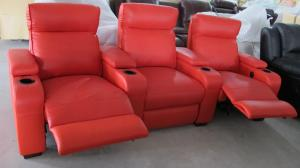 China Home furniture living room leather recliner sofa cinema theatre chairs LS607 on sale