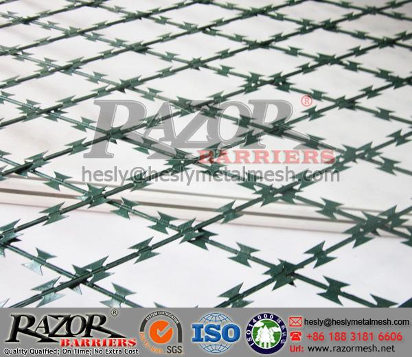 Razor Blade Wire Mesh Fence for sale – Welded Razor Mesh Fence ...