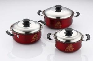 China Durable Kitchen Cookware Sets Ss410 # 0.5mm Thickness Strong And Immune To Rust on sale