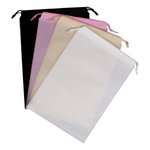 China Personalised Non Woven Drawstring Christmas Gift Bags Environmental Friendly on sale