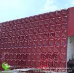 Powder Coating Aluminum Facade Panels 3D   Cladding For Perforated Metal Facade Systems