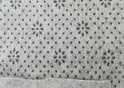 China Anti Slip Non Woven Felt White Or Black Floral Dots Carpet Underfelt on sale