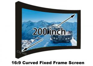 China Easy Install 200'' Large Projection Screen 16 / 9 , HD Matt White Projector Screen For Big Cinema Theater on sale