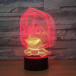 China Colorful 3D LED night light on sale