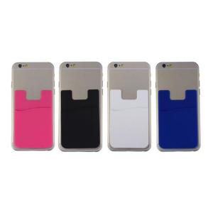 China 3M sticker smart wallet mobile card holder Custom personalized silicone phone card holder on sale