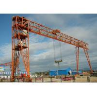 Outdoor 100 Ton Double Girder Gantry Crane , Material Handling Equipment 7.5-31.5m Span