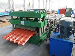 China 3D Cut Galvanised Steel Roof Tile Roll Forming Machine To Mexico on sale