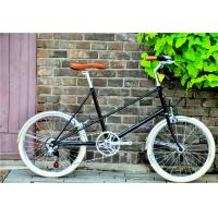 Caliper brake black hi-ten steel  mini small 20 size old style city bike for lady with Shimano 6 speedmade in China
