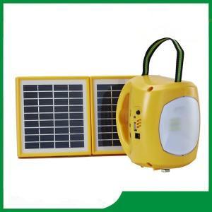 China A lanterna solar recarregável/conduziu a lanterna de acampamento solar com o carregador do telefone celular para a venda quente on sale