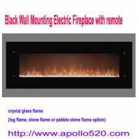 China 72 Wall Mount Electric Fireplace Heater Black on sale