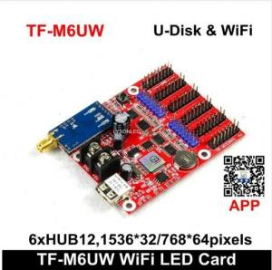 Quality TF-M6UW WIFI & USB-disk LED Display Control Card 2xHUB08 6xHUB12 Max768*64Pixels for sale