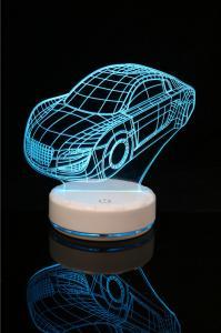 China 3D CAR LED Desk Lamp Lantern Night light Kid Cartoon Gift  Remote Control on sale