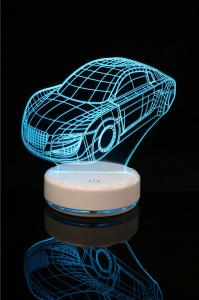 China Cartoon Car  Design  3D LED Night Light for Home Decoration LED Light for children's room on sale