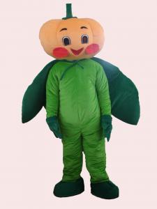 China custom vegetable fancy dress of pumpkin mascot cartoon cosplay costumes for halloween on sale