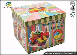 China Cartoon Cute Corrugated Paper Gift Packaging Tuck Storage Boxes Custom Made With Handle on sale